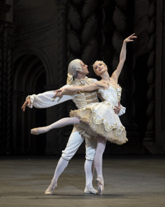 "Marcelo Gomes and Diana Vishneva in ABT's ""The Sleeping Beauty."" Photo by Gene Schiavone."